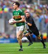 1 September 2019; Jack Barry of Kerry on the attack as referee David Gough looks on during the GAA Football All-Ireland Senior Championship Final match between Dublin and Kerry at Croke Park in Dublin. Photo by Piaras Ó Mídheach/Sportsfile