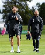 4 September 2019; Jeff Hendrick and Republic of Ireland fitness coach Andy Liddle during a Republic of Ireland training session at the FAI National Training Centre in Abbotstown, Dublin. Photo by Stephen McCarthy/Sportsfile
