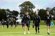 4 September 2019; Jeff Hendrick with Republic of Ireland fitness coach Andy Liddle and James McClean, right, during a Republic of Ireland training session at the FAI National Training Centre in Abbotstown, Dublin. Photo by Stephen McCarthy/Sportsfile