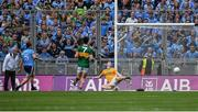 1 September 2019; Jack McCaffrey of Dublin scores his side's first goal past Kerry goalkeeper Shane Ryan during the GAA Football All-Ireland Senior Championship Final match between Dublin and Kerry at Croke Park in Dublin. Photo by Piaras Ó Mídheach/Sportsfile