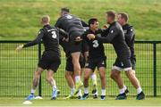 4 September 2019; Republic of Ireland players, from left, James McClean, Shane Duffy, Josh Cullen, James Collins and Glenn Whelan during a Republic of Ireland training session at the FAI National Training Centre in Abbotstown, Dublin. Photo by Stephen McCarthy/Sportsfile