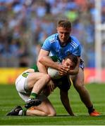 1 September 2019; Stephen O'Brien of Kerry is tackled by Paddy Small of Dublin during the GAA Football All-Ireland Senior Championship Final match between Dublin and Kerry at Croke Park in Dublin. Photo by Piaras Ó Mídheach/Sportsfile