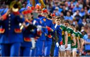 1 September 2019; Kerry captain Gavin White leads his team in the pre-match parade, behind The Artane Band, before the GAA Football All-Ireland Senior Championship Final match between Dublin and Kerry at Croke Park in Dublin. Photo by Piaras Ó Mídheach/Sportsfile