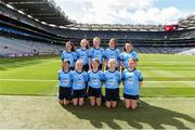 1 September 2019; The Dublin team, back row, left to right, Eimear Igoe, St. Teresa's NS, Clontumpher, Ballinalee, Longford, Lucy Ní Eidhin, Gaelscoil an Mhuilinn, An Muileann Cearr, An Iarmhí, Niamh Andrews, St. Patrick's NS, Castleknock, Dublin, Olivia Shannon, St. Brigid's, Tinahely, Wicklow, Nicole Pierce, Scoil Mhuire, Clondalkin, Dublin, front row, left to right, Leah Tyrrell, Scoil Bhríde, Kilcullen, Kildare, Faith McDermott, Durrow NS, Durrow, Tullamore, Offaly, Ava Lily O'Neill, Dunamaggin NS, Dunamaggin, Kilkenny, Fiona Murphy, Scoil an Chroi Ró Naofa, Castletownbere, Cork, Anna Murphy, St Colman's, Stradbally, Laois, ahead of the INTO Cumann na mBunscol GAA Respect Exhibition Go Games at the GAA Football All-Ireland Senior Championship Final match between Dublin and Kerry at Croke Park in Dublin. Photo by Daire Brennan/Sportsfile