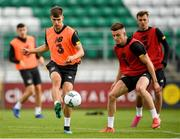 5 September 2019; Jayson Molumby, left, and Darragh Leahy during a Republic of Ireland U21's Training Session at Tallaght Stadium in Dublin. Photo by Eóin Noonan/Sportsfile