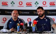 5 September 2019; Ireland captain Rory Best, left, and defence coach Andy Farrell during an Ireland Rugby press conference at Carton House in Maynooth, Kildare. Photo by Brendan Moran/Sportsfile