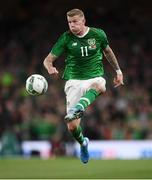5 September 2019; James McClean of Republic of Ireland during the UEFA EURO2020 Qualifier Group D match between Republic of Ireland and Switzerland at Aviva Stadium, Dublin. Photo by Stephen McCarthy/Sportsfile