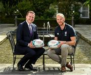 "6 September 2019: Rugby World Cup season kicked off today at a preview of Rugby World Cup 2019™ with Emirates and Wayne Barnes. One of the best-known officials in the game, Barnes took part in a Q&A with former Irish international, Tommy Bowe, to highlight Emirates' association with rugby.  Emirates first sponsored Rugby World Cup (RWC) 2007 in France, then became a Worldwide Partner for RWC 2011, 2015, and now the tournament in Japan 2019™. Rugby has been a part of Emirates' portfolio for more than 20 years, since the company became the Title Sponsor of the Emirates Airline Dubai Rugby Sevens, part of the HSBC Sevens World Series. Emirates is also proud to sponsor the Cape Town Sevens, the first event of the 2019/2020 Series. Enda Corneille, Country Manager for Emirates in Ireland, commented: ""Rugby World Cup is one of the most iconic sporting events with a huge following in Ireland and Emirates is proud of its long-standing association with the game. At every international rugby match, World Rugby's™ elite panel of referees take to the field in their Emirates Fly Better kit. ""Emirates bring people and cultures together, just as rugby brings people together through a shared passion for sport. We connect Ireland to more than 150 destinations, including Japan for Rugby World Cup 2019™."" Ireland will kick off its first match against Scotland on Sunday 22 September. Enda Corneille Emirates Country Manager Ireland with Referee Wayne Barnes in attendance during the Emirates Rugby World Cup Preview at Merrion Hotel in Dublin. Photo by Matt Browne/Sportsfile"