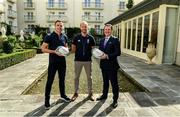 """6 September 2019: Rugby World Cup season kicked off today at a preview of Rugby World Cup 2019™ with Emirates and Wayne Barnes. One of the best-known officials in the game, Barnes took part in a Q&A with former Irish international, Tommy Bowe, to highlight Emirates' association with rugby.  Emirates first sponsored Rugby World Cup (RWC) 2007 in France, then became a Worldwide Partner for RWC 2011, 2015, and now the tournament in Japan 2019™. Rugby has been a part of Emirates' portfolio for more than 20 years, since the company became the Title Sponsor of the Emirates Airline Dubai Rugby Sevens, part of the HSBC Sevens World Series. Emirates is also proud to sponsor the Cape Town Sevens, the first event of the 2019/2020 Series. Enda Corneille, Country Manager for Emirates in Ireland, commented: """"Rugby World Cup is one of the most iconic sporting events with a huge following in Ireland and Emirates is proud of its long-standing association with the game. At every international rugby match, World Rugby's™ elite panel of referees take to the field in their Emirates Fly Better kit. """"Emirates bring people and cultures together, just as rugby brings people together through a shared passion for sport. We connect Ireland to more than 150 destinations, including Japan for Rugby World Cup 2019™."""" Ireland will kick off its first match against Scotland on Sunday 22 September. Former Ireland International Tommy Bowe with Enda Corneille Emirates Country Manager Ireland with Referee Wayne Barnes in attendance during the Emirates Rugby World Cup Preview at Merrion Hotel in Dublin. Photo by Matt Browne/Sportsfile"""
