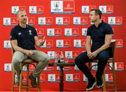 "6 September 2019: Rugby World Cup season kicked off today at a preview of Rugby World Cup 2019™ with Emirates and Wayne Barnes. One of the best-known officials in the game, Barnes took part in a Q&A with former Irish international, Tommy Bowe, to highlight Emirates' association with rugby.  Emirates first sponsored Rugby World Cup (RWC) 2007 in France, then became a Worldwide Partner for RWC 2011, 2015, and now the tournament in Japan 2019™. Rugby has been a part of Emirates' portfolio for more than 20 years, since the company became the Title Sponsor of the Emirates Airline Dubai Rugby Sevens, part of the HSBC Sevens World Series. Emirates is also proud to sponsor the Cape Town Sevens, the first event of the 2019/2020 Series. Enda Corneille, Country Manager for Emirates in Ireland, commented: ""Rugby World Cup is one of the most iconic sporting events with a huge following in Ireland and Emirates is proud of its long-standing association with the game. At every international rugby match, World Rugby's™ elite panel of referees take to the field in their Emirates Fly Better kit. ""Emirates bring people and cultures together, just as rugby brings people together through a shared passion for sport. We connect Ireland to more than 150 destinations, including Japan for Rugby World Cup 2019™."" Ireland will kick off its first match against Scotland on Sunday 22 September. Referee Wayne with former Ireland International Tommy Bowe in attendance during the Emirates Rugby World Cup Preview at Merrion Hotel in Dublin. Photo by Matt Browne/Sportsfile"