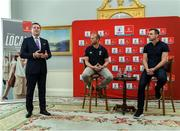 "6 September 2019: Rugby World Cup season kicked off today at a preview of Rugby World Cup 2019™ with Emirates and Wayne Barnes. One of the best-known officials in the game, Barnes took part in a Q&A with former Irish international, Tommy Bowe, to highlight Emirates' association with rugby.  Emirates first sponsored Rugby World Cup (RWC) 2007 in France, then became a Worldwide Partner for RWC 2011, 2015, and now the tournament in Japan 2019™. Rugby has been a part of Emirates' portfolio for more than 20 years, since the company became the Title Sponsor of the Emirates Airline Dubai Rugby Sevens, part of the HSBC Sevens World Series. Emirates is also proud to sponsor the Cape Town Sevens, the first event of the 2019/2020 Series. Enda Corneille, Country Manager for Emirates in Ireland, commented: ""Rugby World Cup is one of the most iconic sporting events with a huge following in Ireland and Emirates is proud of its long-standing association with the game. At every international rugby match, World Rugby's™ elite panel of referees take to the field in their Emirates Fly Better kit. ""Emirates bring people and cultures together, just as rugby brings people together through a shared passion for sport. We connect Ireland to more than 150 destinations, including Japan for Rugby World Cup 2019™."" Ireland will kick off its first match against Scotland on Sunday 22 September. Enda Corneille Emirates Country Manager Ireland with  Referee Wayne Barnes and former Ireland International Tommy Bowe in attendance during the Emirates Rugby World Cup Preview at Merrion Hotel in Dublin. Photo by Matt Browne/Sportsfile"
