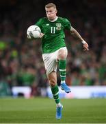 5 September 2019; James McClean of Republic of Ireland during the UEFA EURO2020 Qualifier Group D match between Republic of Ireland and Switzerland at Aviva Stadium, Lansdowne Road in Dublin. Photo by Stephen McCarthy/Sportsfile