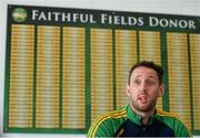 06 September 2019; Michael Fennelly speaks to journalists during his unveiling as the new Offaly Senior Hurling Manager at the GAA Faithful Fields Offaly Centre of Excellence in Kilcormac, Co. Offaly. Photo by David Fitzgerald/Sportsfile