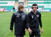 6 September 2019; Luca Connell, left, and Troy Parrott of Republic of Ireland prior to the UEFA European U21 Championship Qualifier Group 1 match between Republic of Ireland and Armenia at Tallaght Stadium in Tallaght, Dublin. Photo by Stephen McCarthy/Sportsfile