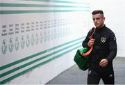 6 September 2019; Darragh Leahy of Republic of Ireland arrives prior to the UEFA European U21 Championship Qualifier Group 1 match between Republic of Ireland and Armenia at Tallaght Stadium in Tallaght, Dublin. Photo by Stephen McCarthy/Sportsfile