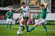 6 September 2019; Patrick McEleney of Dundalk in action against Colm Horgan of Cork City during the SSE Airtricity League Premier Division match between Dundalk and Cork City at Oriel Park in Dundalk, Co. Louth. Photo by Ben McShane/Sportsfile