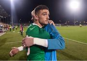 6 September 2019; Troy Parrott and Caoimhin Kelleher of Republic of Ireland following the UEFA European U21 Championship Qualifier Group 1 match between Republic of Ireland and Armenia at Tallaght Stadium in Tallaght, Dublin. Photo by Stephen McCarthy/Sportsfile