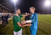 6 September 2019; Troy Parrott and Caoimhin Kelleher, right, of Republic of Ireland following the UEFA European U21 Championship Qualifier Group 1 match between Republic of Ireland and Armenia at Tallaght Stadium in Tallaght, Dublin. Photo by Stephen McCarthy/Sportsfile