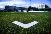 7 September 2019; Pitch markings in advance of the Amputee Football League Cup at Carlisle Grounds in Bray, Co Wicklow. Photo by Stephen McCarthy/Sportsfile