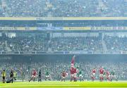 7 September 2019; Justin Tipuric of Wales wins possession in the lineout during the Guinness Summer Series match between Ireland and Wales at Aviva Stadium in Dublin. Photo by Ramsey Cardy/Sportsfile
