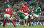 7 September 2019; Ross Moriarty of Wales is tackled by Robbie Henshaw of Ireland during the Guinness Summer Series match between Ireland and Wales at Aviva Stadium in Dublin. Photo by Ramsey Cardy/Sportsfile