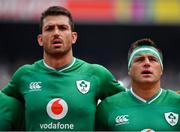 7 September 2019; Jean Kleyn, left, and CJ Stander of Ireland sing Ireland's Call prior to the Guinness Summer Series match between Ireland and Wales at Aviva Stadium in Dublin.Photo by Brendan Moran/Sportsfile