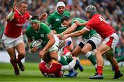 7 September 2019; CJ Stander of Ireland is tackled by Rhys Patchell of Wales during the Guinness Summer Series match between Ireland and Wales at Aviva Stadium in Dublin.Photo by Brendan Moran/Sportsfile
