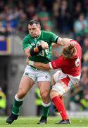 7 September 2019; Cian Healy of Ireland is tackled by Aaron Wainwright of Wales during the Guinness Summer Series match between Ireland and Wales at Aviva Stadium in Dublin.Photo by Brendan Moran/Sportsfile
