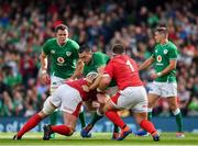 7 September 2019; Jack Conan of Ireland is tackled by Jake Ball, left, and Wyn Jones of Wales during the Guinness Summer Series match between Ireland and Wales at Aviva Stadium in Dublin.Photo by Brendan Moran/Sportsfile