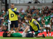 7 September 2019; Keith Earls of Ireland receives treatment for an injury during the Guinness Summer Series match between Ireland and Wales at Aviva Stadium in Dublin. Photo by Ramsey Cardy/Sportsfile