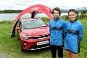 7 September 2019; Eric Keogh from Donore Harriers Athletic Club Dublin who won the mens Kia Race Series and  Sinead O'Connor from Leevale Athletic Club Co Cork who won the ladies Kia Race Series – Round 8 at Blessington Lakes in Wicklow. Photo by Matt Browne/Sportsfile