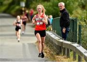 7 September 2019; Mary Mulhare from Portlaoise Athletic Club who came second during the Kia Race Series – Round 8 at Blessington Lakes in Wicklow. Photo by Matt Browne/Sportsfile