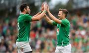 7 September 2019; Jack Carty of Ireland, right, and team-mate Robbie Henshaw embrace following the Guinness Summer Series match between Ireland and Wales at Aviva Stadium in Dublin. Photo by David Fitzgerald/Sportsfile