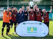 7 September 2019; Bohemians celebrate after winning the the Megazyme Amputee Football League Cup Finals at Carlisle Grounds in Bray, Co Wicklow. Photo by Stephen McCarthy/Sportsfile