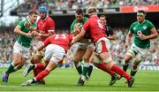 7 September 2019; Rob Kearney of Ireland is tackled by Aaron Wainwright, right, and Liam Williams of Wales during the Guinness Summer Series match between Ireland and Wales at Aviva Stadium in Dublin. Photo by David Fitzgerald/Sportsfile