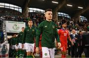 6 September 2019; Darragh Leahy of Republic of Ireland walks our prior to the UEFA European U21 Championship Qualifier Group 1 match between Republic of Ireland and Armenia at Tallaght Stadium in Tallaght, Dublin. Photo by Stephen McCarthy/Sportsfile