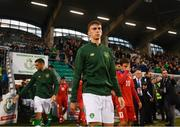 6 September 2019; Conor Masterson of Republic of Ireland walks our prior to the UEFA European U21 Championship Qualifier Group 1 match between Republic of Ireland and Armenia at Tallaght Stadium in Tallaght, Dublin. Photo by Stephen McCarthy/Sportsfile