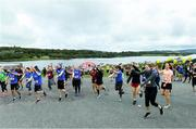 7 September 2019; Athletics warm up before the Kia Race Series – Round 8 at Blessington Lakes in Wicklow. Photo by Matt Browne/Sportsfile
