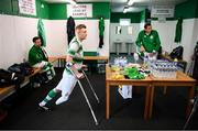 7 September 2019; Kevin Fogarty of Shamrock Rovers prior to the Megazyme Amputee Football League Cup Finals at Carlisle Grounds in Bray, Co Wicklow. Photo by Stephen McCarthy/Sportsfile