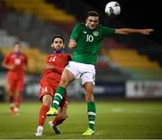 6 September 2019; Artur Nadiryan of Armenia and Troy Parrott of Republic of Ireland during the UEFA European U21 Championship Qualifier Group 1 match between Republic of Ireland and Armenia at Tallaght Stadium in Tallaght, Dublin. Photo by Stephen McCarthy/Sportsfile