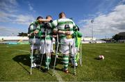 7 September 2019; Shamrock Rovers players during the Megazyme Amputee Football League Cup Finals at Carlisle Grounds in Bray, Co Wicklow. Photo by Stephen McCarthy/Sportsfile