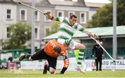 7 September 2019; Alan Wall of Shamrock Rovers and James Conroy of Bohemians during the Megazyme Amputee Football League Cup Finals at Carlisle Grounds in Bray, Co Wicklow. Photo by Stephen McCarthy/Sportsfile