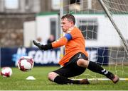 7 September 2019; James Conroy of Bohemians saves a penalty during the Megazyme Amputee Football League Cup Finals at Carlisle Grounds in Bray, Co Wicklow. Photo by Stephen McCarthy/Sportsfile