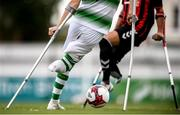 7 September 2019; A general view of the action between Shamrock Rovers and Bohemians during the Megazyme Amputee Football League Cup Finals at Carlisle Grounds in Bray, Co Wicklow. Photo by Stephen McCarthy/Sportsfile