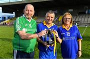 7 September 2019; Dementia advocates Kevin Quaid and Kathy Ryan with Tipperary captain Michael Cleary after The Alzheimer Society of Ireland hosting Bluebird Care sponsored Tipperary v Limerick hurling fundraiser match at Nenagh Éire Óg, Nenagh, Co Tipperary. This unique fundraising initiative, to mark World Alzheimer's Month 2019, was the brainchild of two leading Munster dementia advocates, Kevin Quaid and Kathy Ryan, who both have a dementia diagnosis. All the money raised will go towards providing community services and advocacy supports in the Munster area and beyond. Photo by Piaras Ó Mídheach/Sportsfile