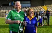 7 September 2019; Dementia advocates Kevin Quaid and Kathy Ryan after The Alzheimer Society of Ireland hosting Bluebird Care sponsored Tipperary v Limerick hurling fundraiser match at Nenagh Éire Óg, Nenagh, Co Tipperary. This unique fundraising initiative, to mark World Alzheimer's Month 2019, was the brainchild of two leading Munster dementia advocates, Kevin Quaid and Kathy Ryan, who both have a dementia diagnosis. All the money raised will go towards providing community services and advocacy supports in the Munster area and beyond. Photo by Piaras Ó Mídheach/Sportsfile