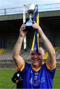 7 September 2019; Tipperary captain Michael Cleary with the cup after The Alzheimer Society of Ireland hosting Bluebird Care sponsored Tipperary v Limerick hurling fundraiser match at Nenagh Éire Óg, Nenagh, Co Tipperary. This unique fundraising initiative, to mark World Alzheimer's Month 2019, was the brainchild of two leading Munster dementia advocates, Kevin Quaid and Kathy Ryan, who both have a dementia diagnosis. All the money raised will go towards providing community services and advocacy supports in the Munster area and beyond. Photo by Piaras Ó Mídheach/Sportsfile