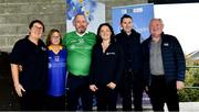 7 September 2019; Attendees, from left, Annette Cullen, Bluebird, Kathy Ryan, and Kevin Quaid, Dementia advocates, Mairead Dillon, ASI Head of Fundraising, and ASI CEO Pat McLoughlin, after The Alzheimer Society of Ireland hosting Bluebird Care sponsored Tipperary v Limerick hurling fundraiser match at Nenagh Éire Óg, Nenagh, Co Tipperary. This unique fundraising initiative, to mark World Alzheimer's Month 2019, was the brainchild of two leading Munster dementia advocates, Kevin Quaid and Kathy Ryan, who both have a dementia diagnosis. All the money raised will go towards providing community services and advocacy supports in the Munster area and beyond. Photo by Piaras Ó Mídheach/Sportsfile