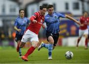 7 September 2019; Ronan Coughlan of Sligo Rovers in action against Aaron McGrath of UCD during the Extra.ie FAI Cup Quarter-Final match between Sligo Rovers and UCD at The Showgrounds in Sligo. Photo by Oliver McVeigh/Sportsfile