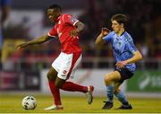 7 September 2019; Romeo Parkes of Sligo Rovers in action against Dara Keane of UCD during the Extra.ie FAI Cup Quarter-Final match between Sligo Rovers and UCD at The Showgrounds in Sligo. Photo by Oliver McVeigh/Sportsfile